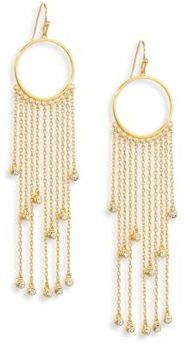 Jules Smith Daria Crystal Fringe Drop Earrings $65 thestylecure.com