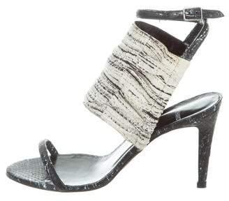 Pierre Hardy Snakeskin Ankle-Strap Sandals