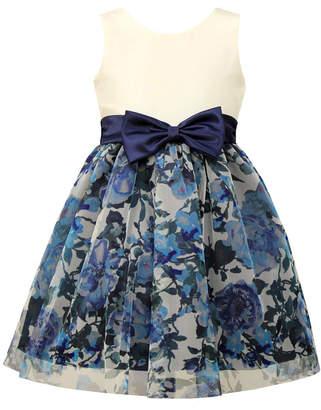 Jayne Copeland Toddler Girls Floral-Print Mesh Party Dress