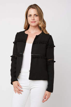 Abbeline Open Pom Pom Jacket