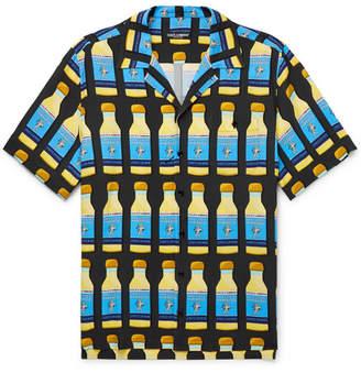 Dolce & Gabbana Camp-Collar Printed Woven Shirt - Men - Multi