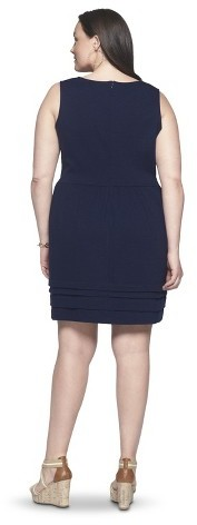 Merona Women's Plus Size Short Sleeve Ponte Dress