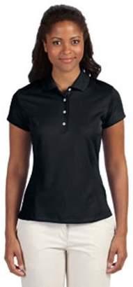 adidas Ladies' climalite Texture Solid Polo - BLACK/ WHITE - M A171
