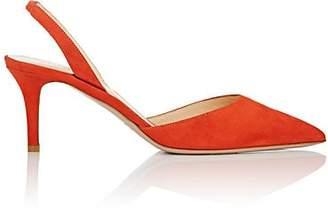 Barneys New York Women's Suede Slingback Pumps - Orange
