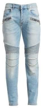 Balmain Ribbed Biker Jeans