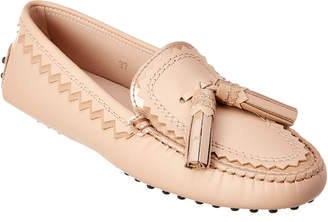 Tod's Bohemian Leather Moccasin