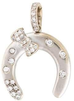Aaron Basha 18K Diamond Horseshoe Pendant