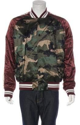 Valentino 2017 Camo Souvenir Bomber Jacket