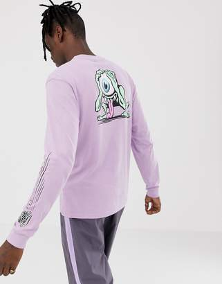 Santa Cruz Eyegore Back Print Long Sleeve T-Shirt In Lilac
