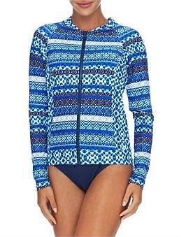 Jantzen Ocean Blue Zip Front Rash Vest