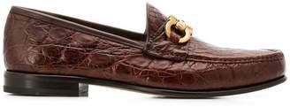 Salvatore Ferragamo Bond croc-embossed loafers