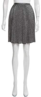 Prada Metallic Pleated Skirt