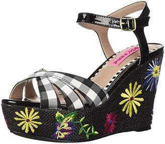 Betsey Johnson Women's Traci Wedge Sandal