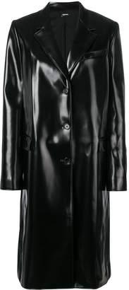 Jil Sander Navy buttoned rain coat