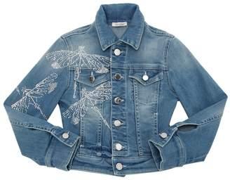 Embellished Stretch Denim Jacket