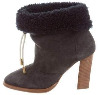 Chloé Shearling-Lined Ankle Boots