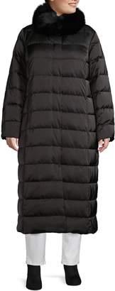 Marina Rinaldi Fox Fur Collar Down-Filled Puffer Jacket