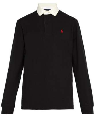 Polo Ralph Lauren - Logo Embroidered Cotton Rugby Shirt - Mens - Black