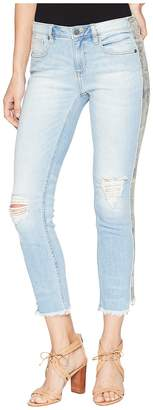 Miss Me Mid-Rise Ankle Straight Jeans in Light Blue Women's Jeans