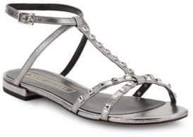 Marc Jacobs Ana Studded Metallic Leather Sandals