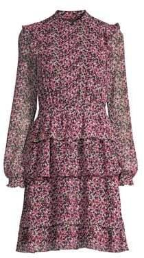 MICHAEL Michael Kors Garden Print Ruffle Dress