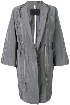Fabiana Filippi creased mid-length coat