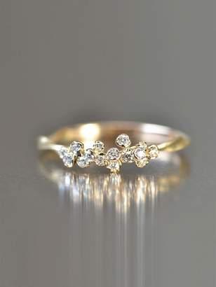 Kataoka Organic Round Diamond Cluster Ring - Rose Gold