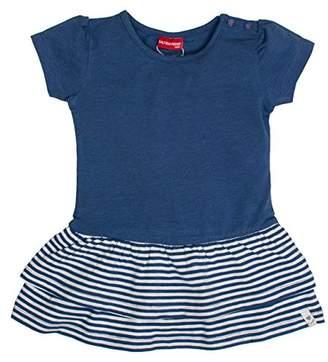 Salt&Pepper Salt and Pepper Baby Girls' B Dress Summer uni Stufen Cornflower Blue Melange 465