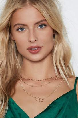Nasty Gal You've Got Layers Circle Necklace
