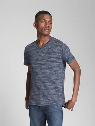 Essential Short Sleeve V-Neck T-Shirt in Spacedye