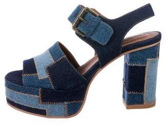 See by Chloe Denim Platform Sandals w/ Tags