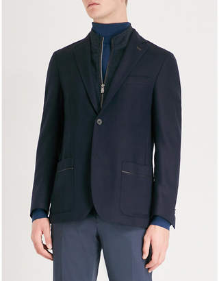 Corneliani Detachable panel regular-fit wool and cotton-blend jacket