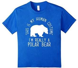 Funny Human Costume Polar Bear T-Shirt
