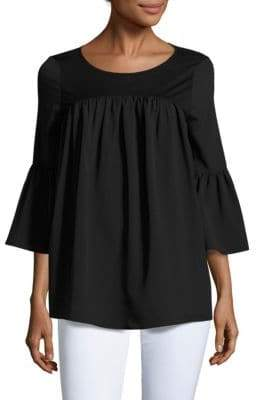 French Connection Solid Pleated Top