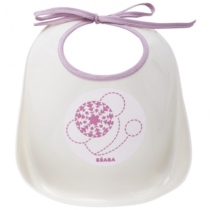 Beaba Gray & Purple Training bib
