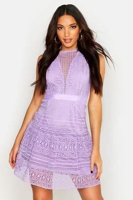 boohoo All Over Crochet Dress
