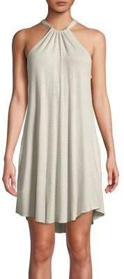 Elan International Striped Halter Dress