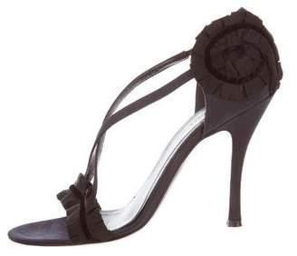 Alexander McQueen Ruffled Satin Sandals