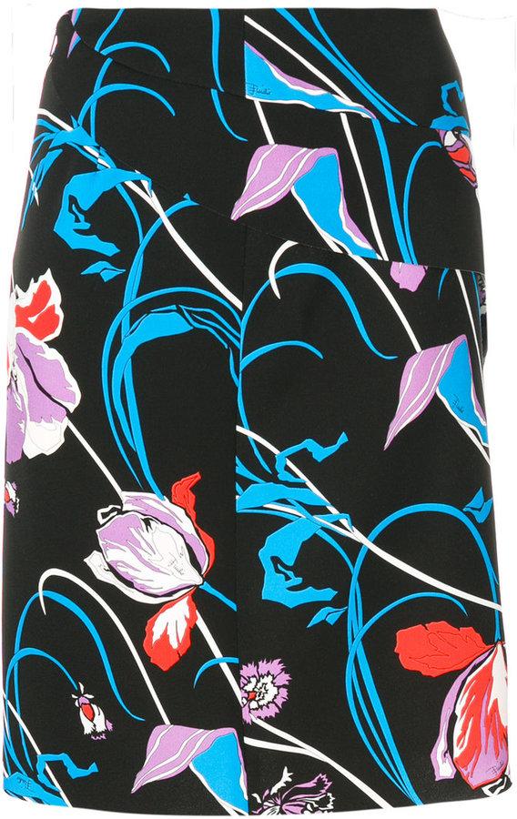 Emilio Pucci laser cut detail skirt