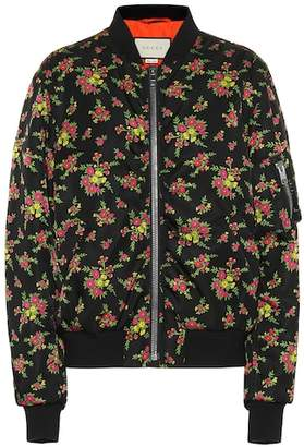 Gucci Floral-printed bomber jacket