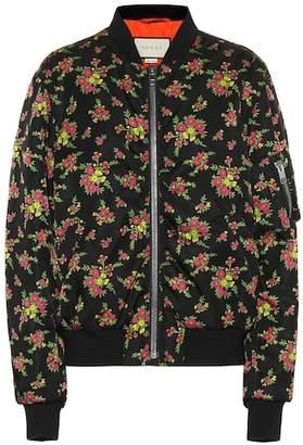 Gucci Floral-printed bomber jacket