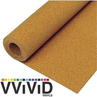 VVIVID Natural Cork Board Textured Vinyl Wrap Shelf & Drawer Liner Underlayer Paper Adhesive Roll Choose Your Size
