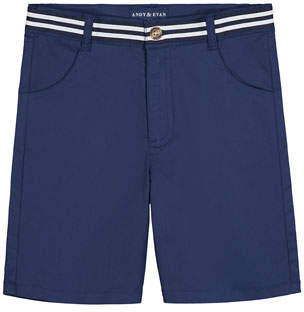 Andy & Evan Mock Belted Twill Shorts, Size 8-14