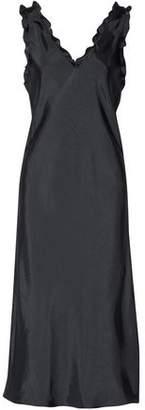 Tibi Gemma Ruffle-Trimmed Satin-Twill Dress