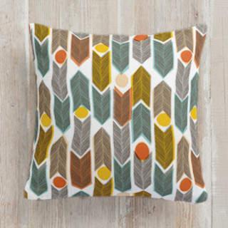 Warm Plains Pattern Self-Launch Square Pillows