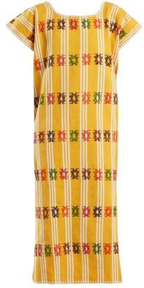 Holt - No.87 Embroidered Cotton Kaftan - Womens - Yellow White