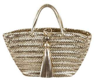Anya Hindmarch Metallic Woven Leather Tote