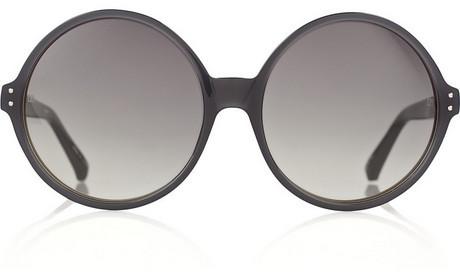 Linda Farrow Oversized round-frame acetate sunglasses