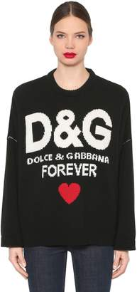 Dolce & Gabbana (ドルチェ & ガッバーナ) - DOLCE & GABBANA オーバーサイズ カシミアニットセーター