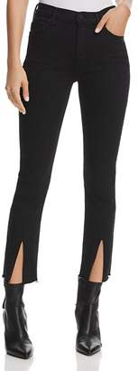 Mother Insider Slit Cropped Fray Jeans in Not Guilty